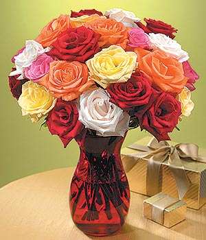 Bolu anneler günü çiçek yolla  13 adet renkli gül
