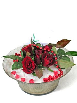 Bolu çiçek siparişi vermek  EN ÇOK Sevenlere 7 adet kirmizi gül mika yada cam tanzim