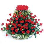 Bolu kaliteli taze ve ucuz çiçekler  41 adet kirmizi gülden sepet tanzimi