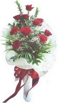 Bolu hediye çiçek yolla  10 adet kirmizi gülden buket tanzimi özel anlara