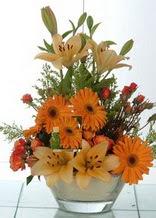 Bolu çiçek servisi , çiçekçi adresleri  cam yada mika vazo içinde karisik mevsim çiçekleri