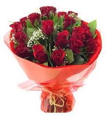 Bolu anneler günü çiçek yolla  11 adet kimizi gülün ihtisami buket modeli