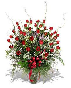 Bolu çiçek siparişi sitesi  33 adet kirmizi gül vazo içerisinde