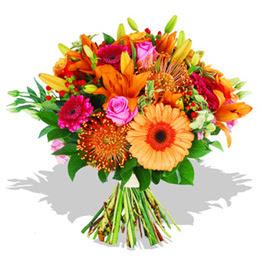 Bolu çiçekçi telefonları  Karisik kir çiçeklerinden görsel demet