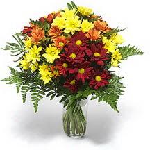 Bolu çiçek siparişi sitesi  Karisik çiçeklerden mevsim vazosu