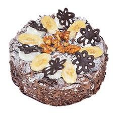 Muzlu çikolatali yas pasta 4 ile 6 kisilik   Bolu uluslararası çiçek gönderme