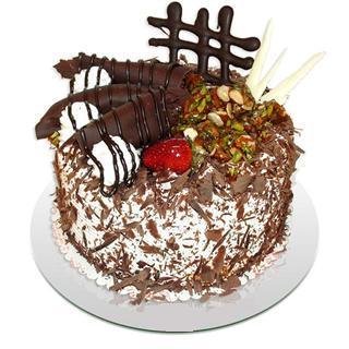 4 ile 6 kisilik çikolatali yas pasta  Bolu kaliteli taze ve ucuz çiçekler