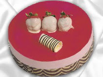 pasta siparisi 4 ile 6 kisilik yas pasta çilekli yaspasta  Bolu çiçek servisi , çiçekçi adresleri