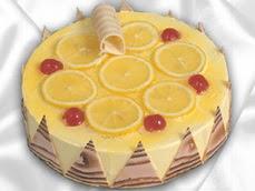 taze pastaci 4 ile 6 kisilik yas pasta limonlu yaspasta  Bolu online çiçek gönderme sipariş