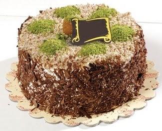 pasta gönderme 4 ile 6 kisilik çikolatali yas pasta  Bolu çiçek satışı
