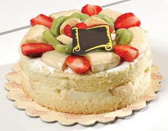 pasta siparisi 4 ile 6 kisilik karisik meyvali yas pasta  Bolu çiçek servisi , çiçekçi adresleri