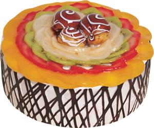 pasta siparisi 4 ile 6 kisilik meyvali yas pasta  Bolu çiçek satışı