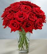Bolu çiçek siparişi sitesi  Sevdiklerinize özel ürün 12 adet cam içerisinde kirmizi gül  Bolu hediye çiçek yolla