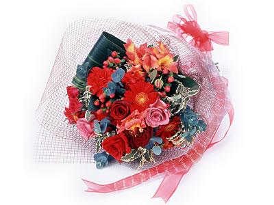 Karisik buket çiçek modeli sevilenlere  Bolu uluslararası çiçek gönderme