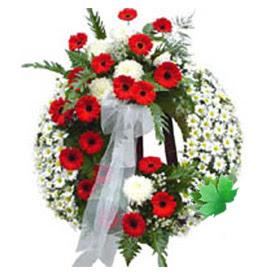 Cenaze çelengi cenaze çiçek modeli  Bolu uluslararası çiçek gönderme