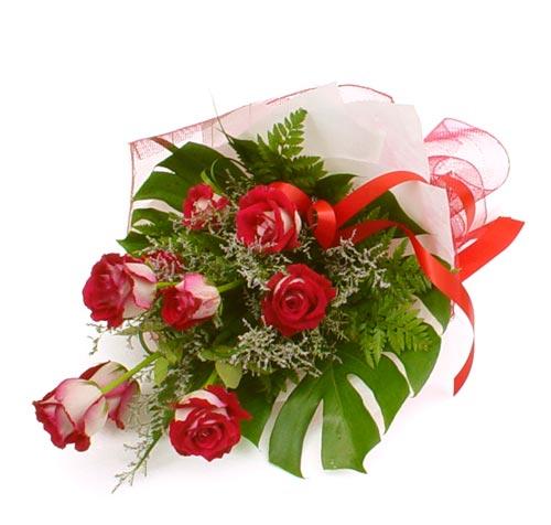 çiçek gönder 7 adet kirmizi gül buketi  Bolu kaliteli taze ve ucuz çiçekler
