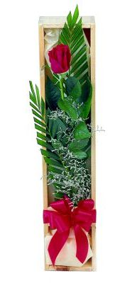 1 adet kutuda kirmizi gül  Bolu çiçek gönderme sitemiz güvenlidir