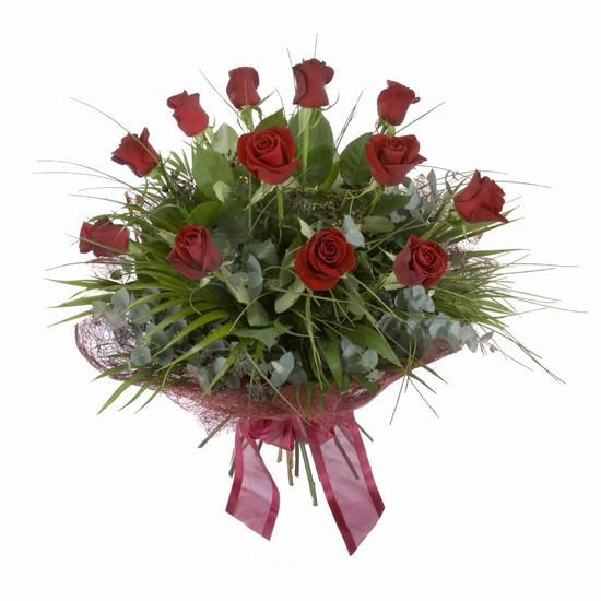 Etkileyici buket 11 adet kirmizi gül buketi  Bolu internetten çiçek satışı