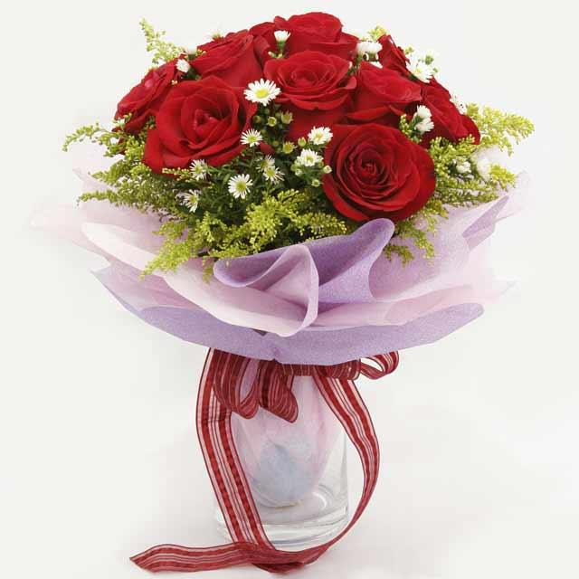 Çiçek gönderme estetikliginiz 11 gül buket  Bolu çiçekçi mağazası