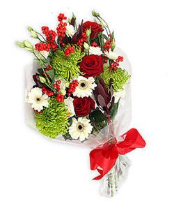 Karisik mevsim buketi çiçek tanzimi  Bolu internetten çiçek siparişi