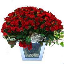 Bolu çiçekçiler   101 adet kirmizi gül aranjmani