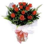 Bolu çiçek , çiçekçi , çiçekçilik  9 adet güzel bir gül buketi