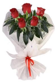 5 adet kirmizi gül buketi  Bolu çiçekçiler
