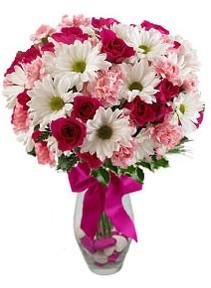 Bolu çiçek siparişi sitesi  Karisik mevsim kir çiçegi vazosu