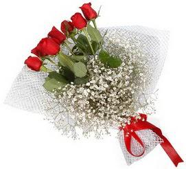7 adet essiz kalitede kirmizi gül buketi  Bolu hediye sevgilime hediye çiçek