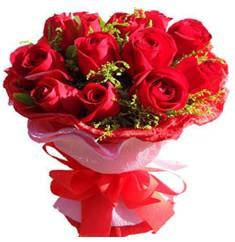 9 adet kirmizi güllerden kipkirmizi buket  Bolu çiçekçiler