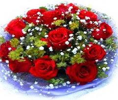 9 adet kirmizi güllerden buket  Bolu çiçekçi telefonları