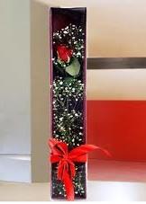 kutu içinde tek kirmizi gül  Bolu çiçek online çiçek siparişi