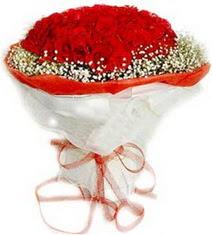 Bolu çiçekçiler  41 adet kirmizi gül buketi