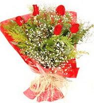 Bolu anneler günü çiçek yolla  5 adet kirmizi gül buketi demeti