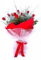 Bolu İnternetten çiçek siparişi  9 adet kirmizi gül buketi demeti