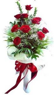 Bolu ucuz çiçek gönder  10 adet kirmizi gül buketi demeti