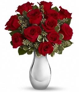 Bolu çiçek siparişi vermek   vazo içerisinde 11 adet kırmızı gül tanzimi