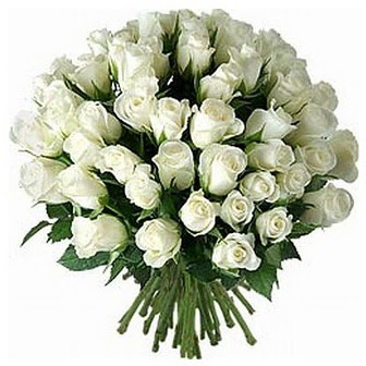Bolu çiçek servisi , çiçekçi adresleri  33 adet beyaz gül buketi