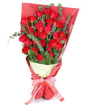 Bolu çiçek gönderme  37 adet kırmızı güllerden buket