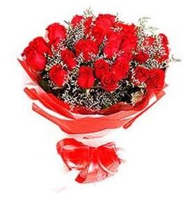 Bolu çiçek mağazası , çiçekçi adresleri  12 adet kırmızı güllerden görsel buket