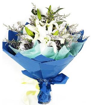 Bolu anneler günü çiçek yolla  4 adet dal kazablankadan görsel buket