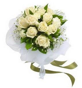 Bolu online çiçekçi , çiçek siparişi  11 adet benbeyaz güllerden buket