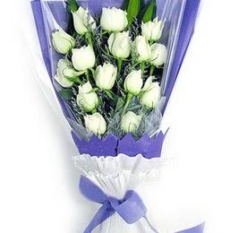 Bolu çiçekçi mağazası  11 adet beyaz gül buket modeli