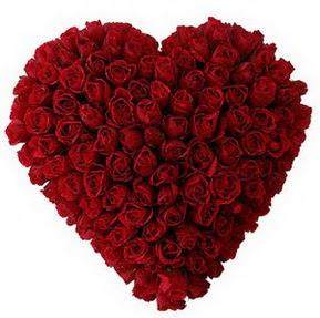 Bolu çiçekçi mağazası  muhteşem kırmızı güllerden kalp çiçeği