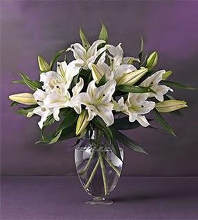 Bolu İnternetten çiçek siparişi  4 dal cazablanca vazo çiçeği
