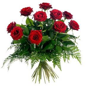 Bolu çiçek gönderme  10 adet kırmızı gülden buket