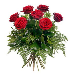 Bolu online çiçek gönderme sipariş  7 adet kırmızı gülden buket