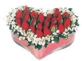 Bolu çiçekçi telefonları  mika kalpte kirmizi güller 9