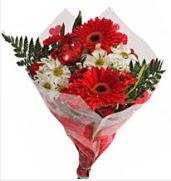 Mevsim çiçeklerinden görsel buket  Bolu çiçekçiler