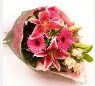 1 dal kazablanka ve mevsim çiçekleri  Bolu internetten çiçek siparişi